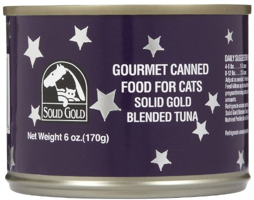 Solid Gold 937243 24-Pack Blended Tuna Canned Food For Cats, 6-Ounce