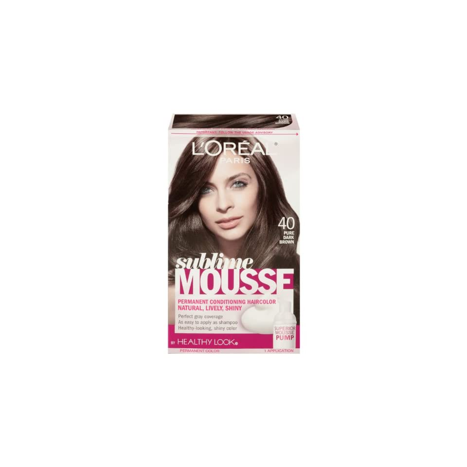 Loreal Paris Sublime Mousse By Healthy Look Hair Color 40 Pure Dark