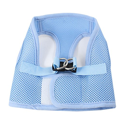 Baby Blue Release Buckle Netty Design Pet Dog Cat Puppy Harness Vest S front-884251