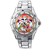 EPSP309 Mickey Minnie Mouse Christmas Stainless Steel Wrist Watch