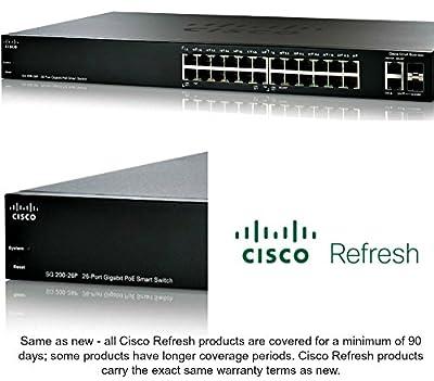 Cisco SG200-26P Refresh SLM2024PT 26-port Gigabit PoE Smart Switch +2xSFP 12xPoE