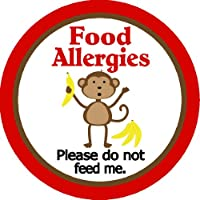 Child Food Allergy Warning Sticker by MyLullabug