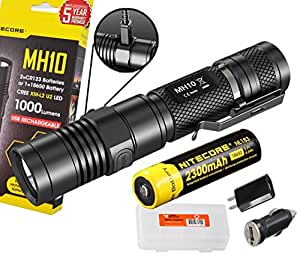 nitecore mh10 1000 lumens rechargeable led. Black Bedroom Furniture Sets. Home Design Ideas