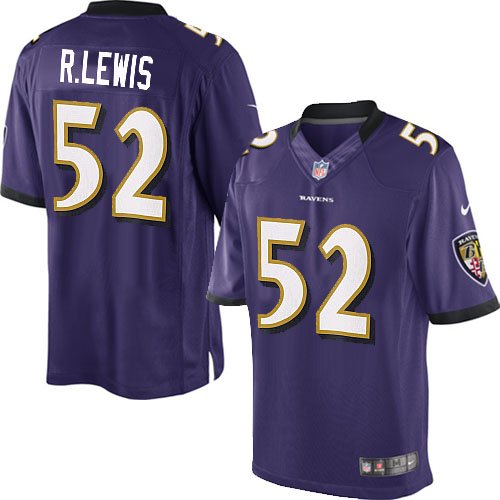 Ray Lewis Purple #52 Baltimore Ravens Jersey Size 44 by Topline