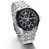JewelryWe-Herren-Armbanduhr-Analog-Quarz-Klassische-Fashion-Business-Casual-Sport-Uhr-mit-Edelstal-Armband