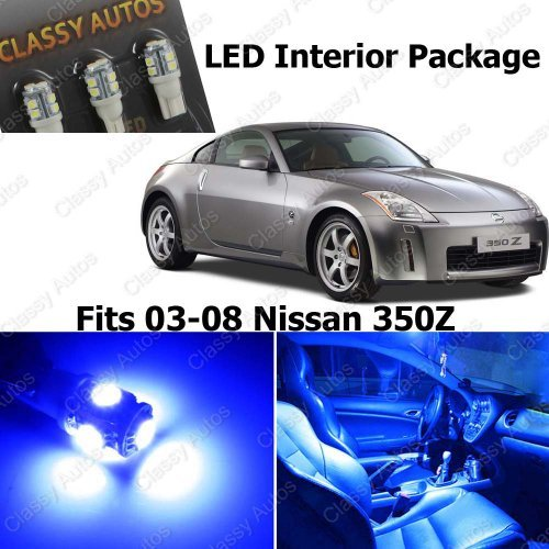 classy autos nissan 350z blue interior led package 5 pieces cars n official website. Black Bedroom Furniture Sets. Home Design Ideas