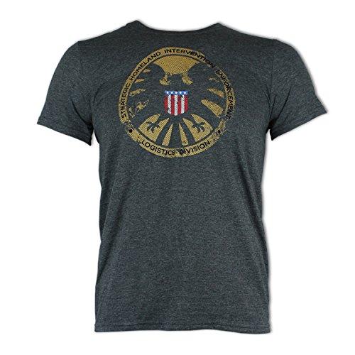 official-marvel-avengers-shield-logo-dark-grey-adult-t-shirt-large
