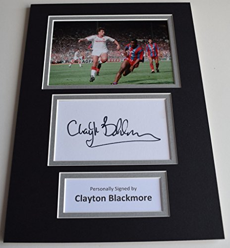sportagraphs-clayton-blackmore-signed-autograph-a4-photo-display-manchester-united-aftal-coa-perfect