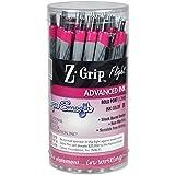 Zebra Pen Z-Grip Flight Retractable Pen, 1.2mm, Pink, Barrel of 36 (92208)