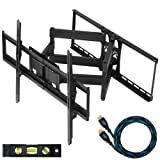 Cheetah Mounts Plasma LCD Flat Screen TV Articulating Full Motion Dual Arm Wall Mount Bracket For 32-65
