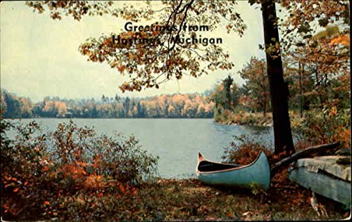 Greetings from Hastings, Michigan postcard