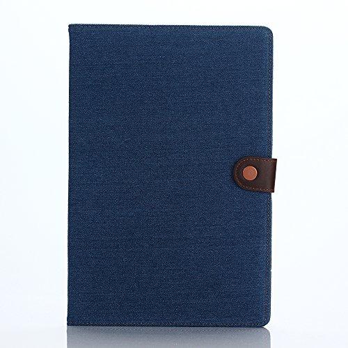 LIHOULAISony Xperia Z4 Tablet SGP712JP SO-05G SOT31 専用保護ケース デニム 手帳型 ケース カード収納ポケット付き (ダークブルー) [並行輸入品]