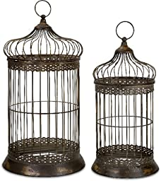 IMAX 47126-2 Byzantine Dome Bird Cages, Set of 2