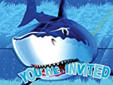 Creative Converting Shark Splash Birthday Party Invitations, 8 Count