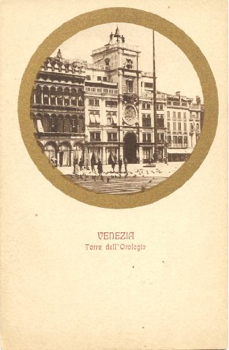 1910 Vintage Postcard Clock Tower - Torre dell'Orologio