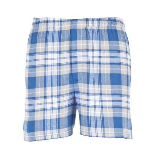 Boxercraft Herren Flanell-Boxer-Shorts / Boxer-Shorts (Medium) (Königsblau/Silberfarben)