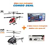 355 + U13A SPECIAL COMBO Deals Electric Full Function Metal Alloy 3.5CH GYRO HD Video Spy... by udi + jxd