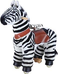 MYHORSESCOOTER Zebra Ride-On, Small