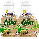 Le Chat Eco Efficacité Lessive Liquide Concentré Recharge pour Auto Doseur 850 ml / 25 Lavages - Lot de 2