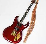 Mosriteコーナー Judy Edwards-san 手作り Nokie HITCH HIKER ヒッチハイカーロゴ ギターストラップ ブラウン