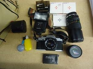 Olympus OM-G 35mm Film Camera+Lens & Flash