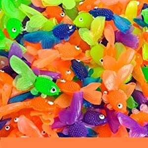 144 Vinyl Goldfish Assorted Colors Approx. 1 3/4 Long New