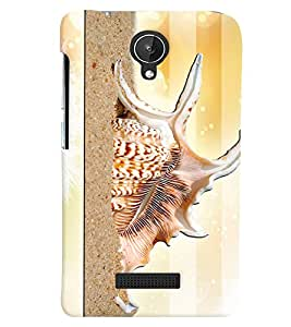 PrintVisa Modern Art Snail 3D Hard Polycarbonate Designer Back Case Cover for Micromax Canvas Spark Q380