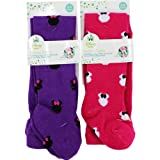 Disney Minnie Mouse Shadows 2 Pack Purple Infant Tight Stockings