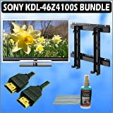 Sony Bravia Z-Series KDL-46Z4100/S 46in. 1080P HD LCD TV Silver and Wall Mount Accessory Outfit With