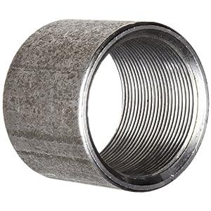 "Anvil 8700158101, Steel Pipe Fitting, Coupling, 3/4"" NPT Female, Black"