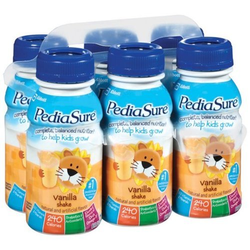 Pediasure Vanilla Shake Nutritional Drink 6 Pk (Pack Of 4)