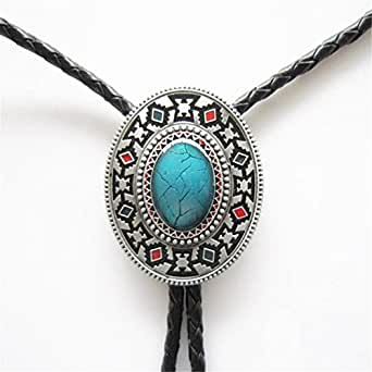 Vintage Style Alloy Fashion Bolo Tie Bow Tie for Mens (American Indian