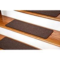 Dean DIY Peel and Stick Serged Non-Skid Carpet Stair Treads - Dark Brown (13) 27
