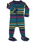 "Leveret Footed ""Multi Colored Unisex Striped"" Pajama Sleeper 100% Cotton (Size 6M-5T)"
