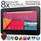 Cheapest Octa-Core 10 inch Tablet! Andteck TouchTab A83T 8-Core 2.0GHz CPU Android KitKat 4.4.4 Tablet PC, 16GB, 1GB RAM, 8-Core GPU, HD 1024x600 5pt Touch Screen, Dual Camera 2MP, Dual Speakers, HDMI, Wifi, Bluetooth, Google Play. New for 2015! [A83T16W]