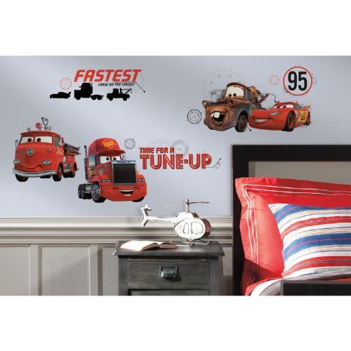 RoomMates RMK2533SCS Cars Friends to The Finish Peel and Stick Wall Decals (Car Company Decals compare prices)