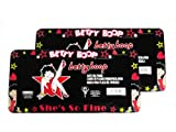 A Set of 2 Plastic Glitter Automotive License Plate Frame - Betty Boop Leg Up Star