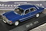 Mercedes-Benz 280SE S-Klasse W116 Limousine Blau 1972-1980 Inkl Zeitschrift Nr 18 1/43 Ixo Modell Auto