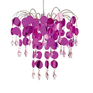 Chandelier Light Lamp Shade Modern Design Lightshade Metallic Pink