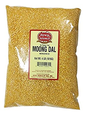 Spicy World Moong Dal (Split Mung Beans Washed) 4 Pounds from Spicy World