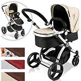 Infantastic® - KBKW01 - Cochecito de bebé combinado 2 en 1 - Cochecito de bebé y silla de paseo