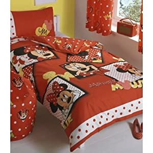 childrens kids minnie mouse reversible quilt