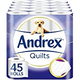 Andrex Quilted Toilet Tissue - 45 Rolls (5 x pack of 9 rolls)