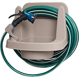 Ames True Temper 2391900 Garden Sync-It Outdoor Water Station Garden Sink and Hose Hanger
