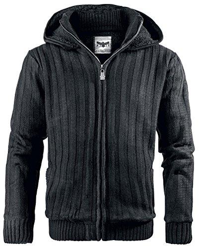 Black Premium by EMP Winter Zip Hoodie Giacca nero L