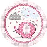 Girl Umbrellaphants Plates