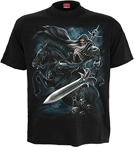 Spiral-Maglietta-Grim Rider-nero Plus Size Black XXXL