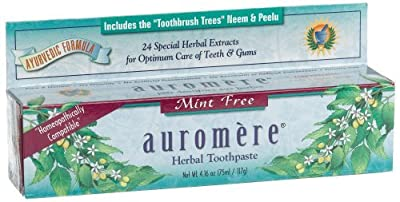 Auromere Herbal Toothpaste, Mint Free, 4.16-Ounces