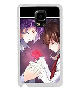 Love Couple 2D Hard Polycarbonate Designer Back Case Cover for Samsung Galaxy Note Edge :: Samsung Galaxy Note Edge N915FY N915A N915T N915K/N915L/N915S N915G N915D
