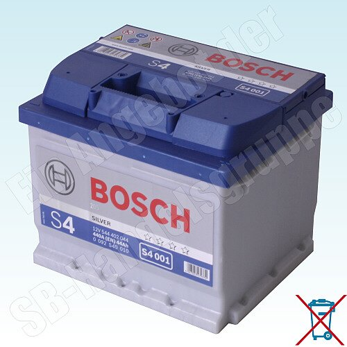 BOSCH S4 AUTOBATTERIE S4 001 12V 44AH 440A 544